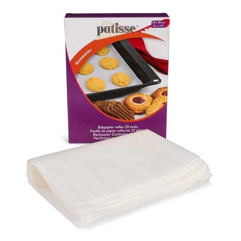 Бумага для выпечки в листах Patisse 38х30 см, 20 шт - фото 4610