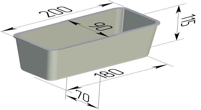 Форма для выпечки хлеба 200х90х115 мм - фото 4649