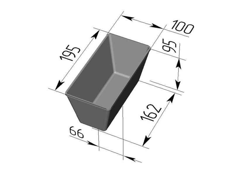 Форма для выпечки хлеба Л-10-1 (195х100х95 мм) - фото 4660