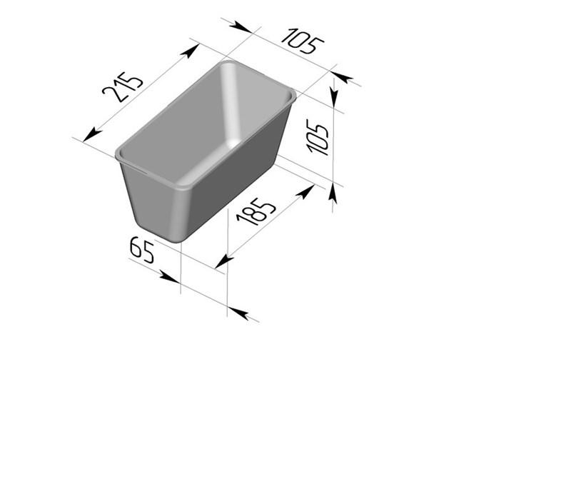Форма для выпечки хлеба Л-10-5 (215х105х105 мм) - фото 4664