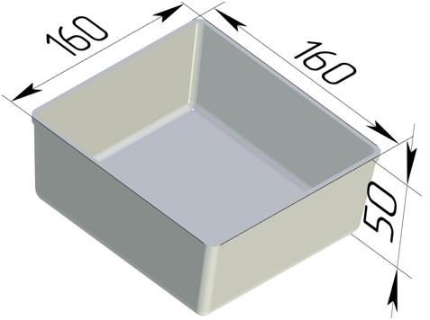 Форма для выпечки хлеба квадратная 160х160х50 мм - фото 4670