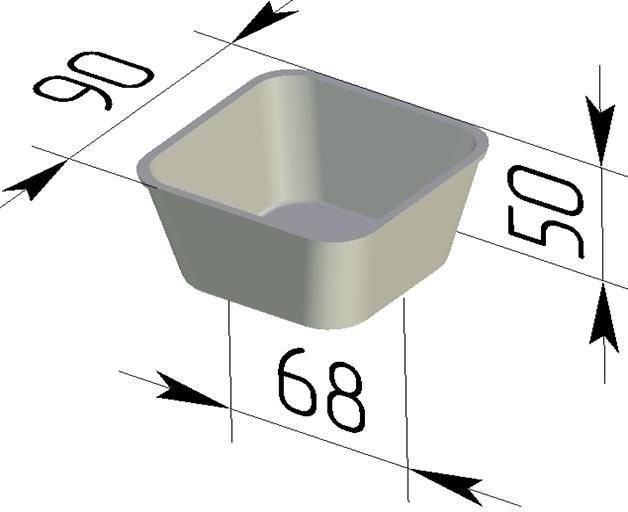 Форма для выпечки хлеба квадратная Л-12-3 (90х90х50 мм) - фото 4672