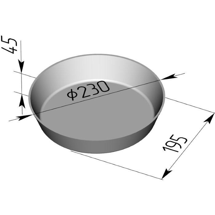 Форма для выпечки хлеба Л-17Г (230х45 мм) - фото 4681