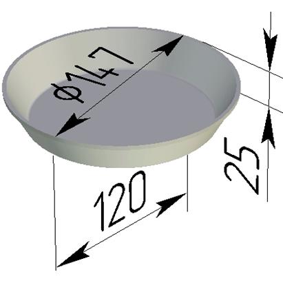 Форма для выпечки хлеба Л-17Д (147х25 мм) - фото 4684