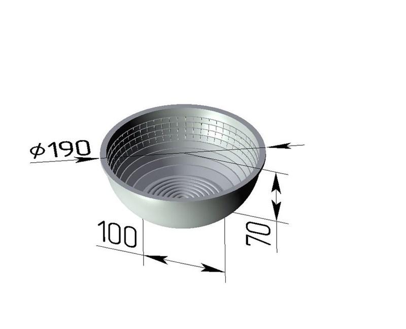 Форма для расстойки и выпечки хлеба Л-17Р (190х100х70 мм) - фото 4700