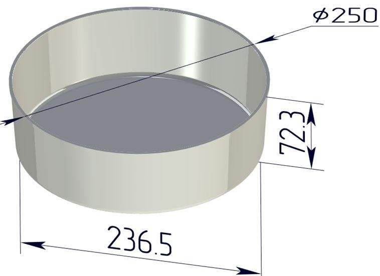 Форма для выпечки хлеба 250х237х73 мм - фото 4716