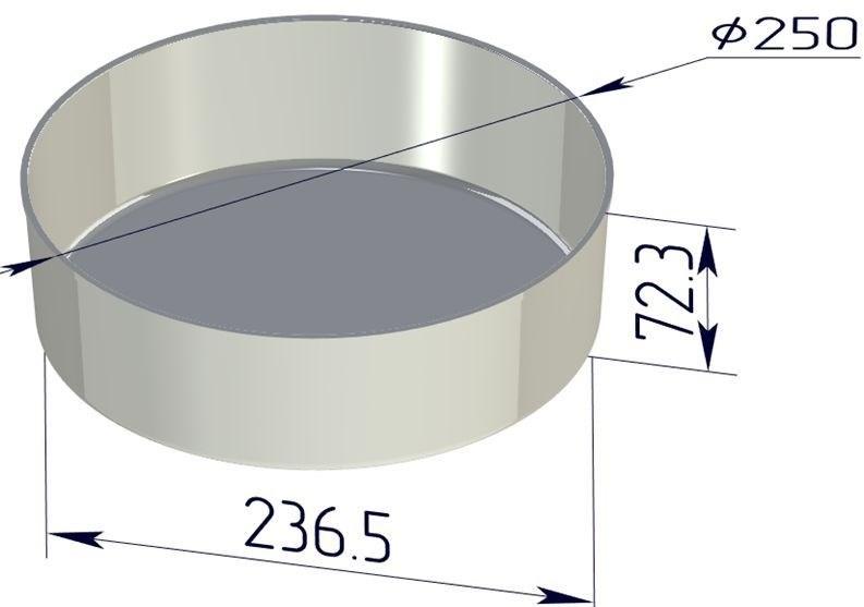 Форма для выпечки хлеба со съемным дном 250х237х73 мм - фото 4717