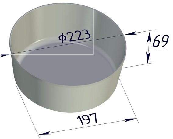 Форма для выпечки хлеба 223х197х69 мм - фото 4718