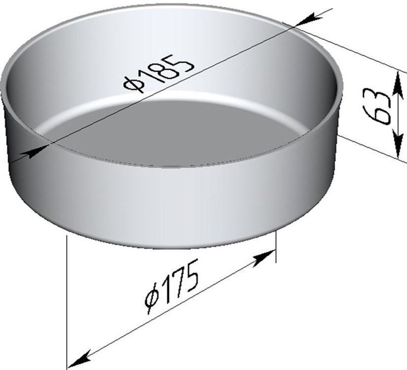 Форма для выпечки хлеба 185х175х63 мм - фото 4719