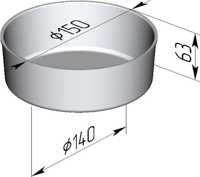 Форма для выпечки хлеба 150х140х63 мм - фото 4720