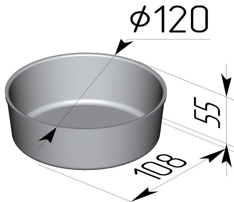 Форма для выпечки хлеба 120х108х55 мм - фото 4721