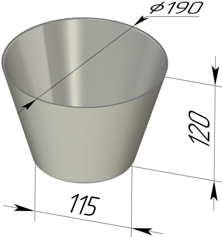 Форма для выпечки хлеба 190х115х120 мм - фото 4722
