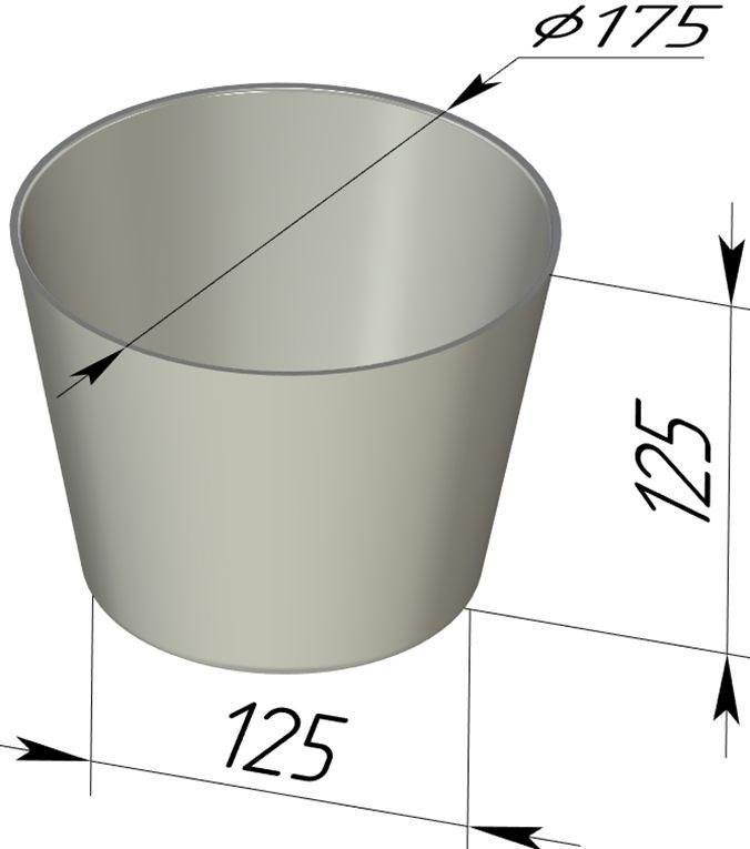 Форма для выпечки хлеба 175х125х125 мм - фото 4724