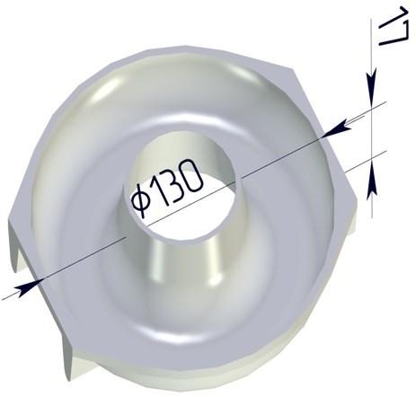 Форма для выпечки Бублик круглая 130х120х20 мм - фото 4727