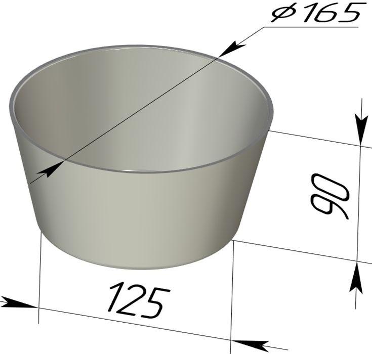 Форма для выпечки хлеба 165х125х90 мм - фото 4728