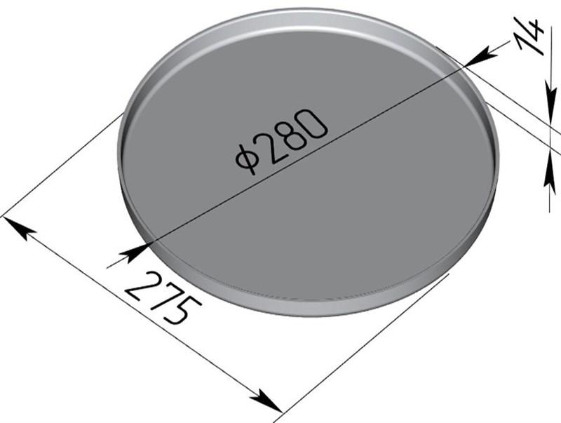 Форма для пиццы 280х14 мм - фото 4730
