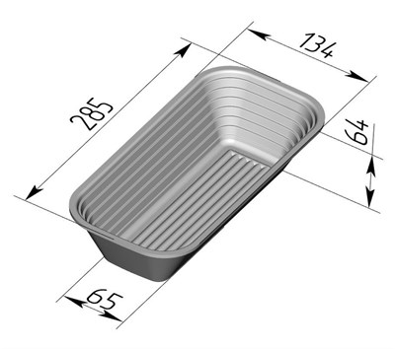 Форма для расстойки и выпечки хлеба овальная 285х135х65 мм - фото 4746