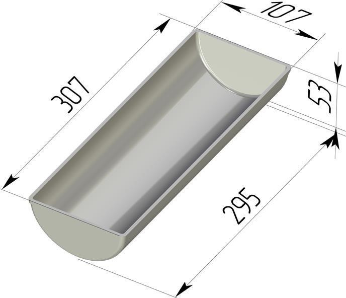Форма для выпечки хлеба Рулетница 307х107х53 мм - фото 4750