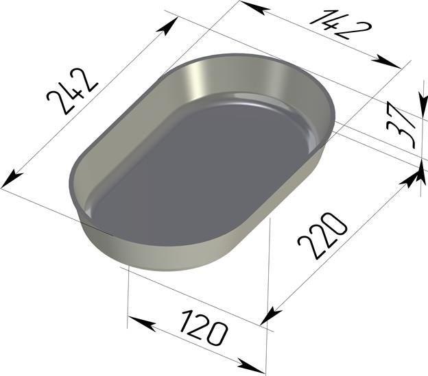 Форма для выпечки хлеба овальная 242х142х37 мм - фото 4757