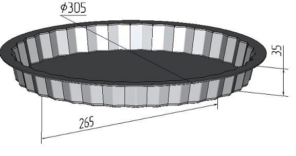 """Форма для выпечки """"Чизкейк"""" 305х35 мм - фото 4770"""