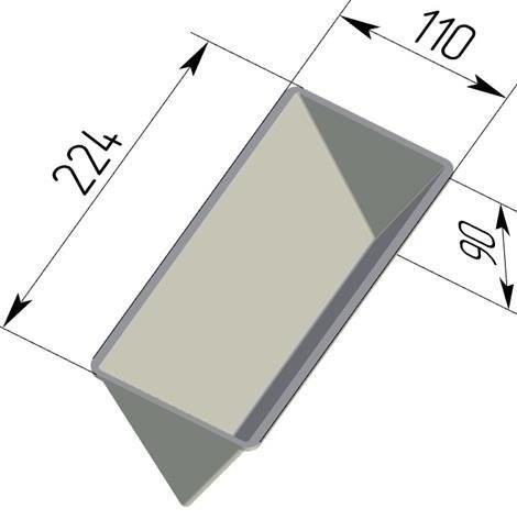 Форма для выпечки хлеба треугольная 225х110х90 - фото 4807