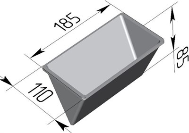 Форма для выпечки хлеба треугольная 185х110х85 - фото 4809