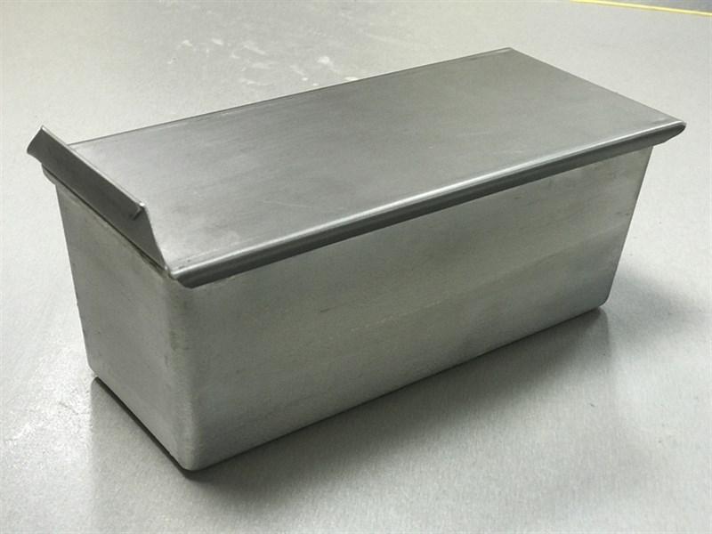 Тостерная форма для выпечки хлеба c крышкой 250х100х100 - фото 4831