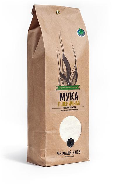 Мука пшеничная тонкого помола БИО, пакет 1 кг - фото 5408