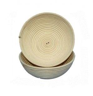Корзинка для расстойки теста из лозы ротанга круглая 13х6 см - фото 5541