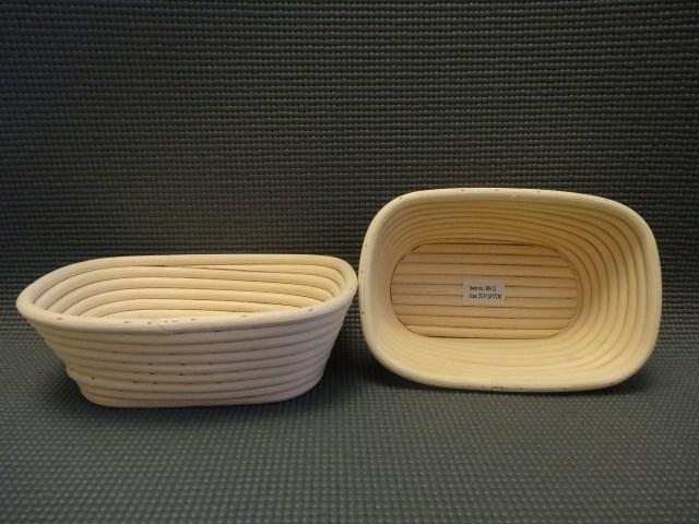 Корзинка для расстойки теста из лозы ротанга прямоугольная 20.5х14х7 см - фото 5588