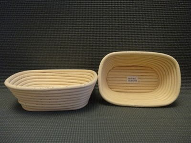 Корзинка для расстойки теста из лозы ротанга прямоугольная 30.5х14.5х8 см - фото 5590