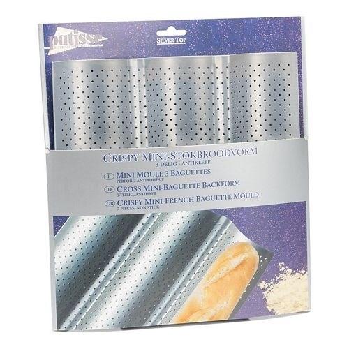 Форма для выпечки багетов 3-х секционная Patisse Silver 26х24 см - фото 5700