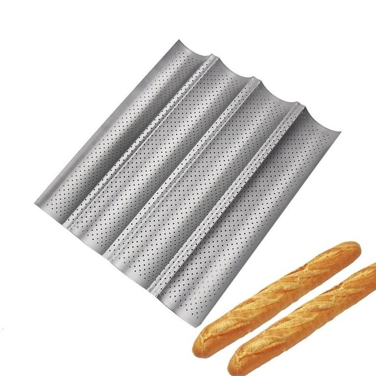 Форма для выпечки багетов 4-х секционная 38х33 см - фото 5703