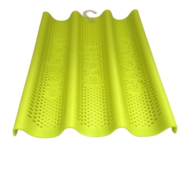Форма для выпечки багетов силиконовая 3-х секционная 35х25 см - фото 5705