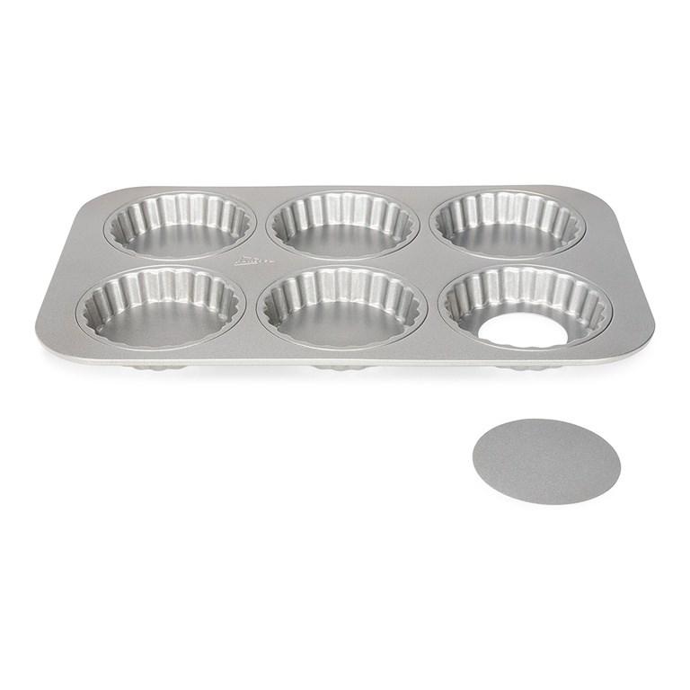 Форма для выпечки кексов со съемным дном Patisse Silver - фото 5727