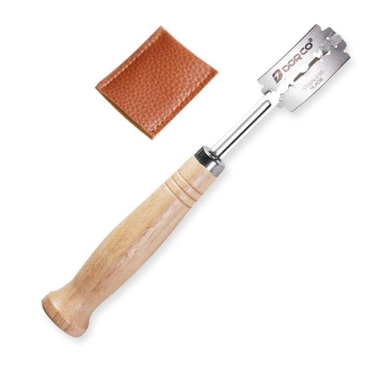 Нож пекарский со сменными лезвиями для нанесения надрезов на тесте - фото 5946