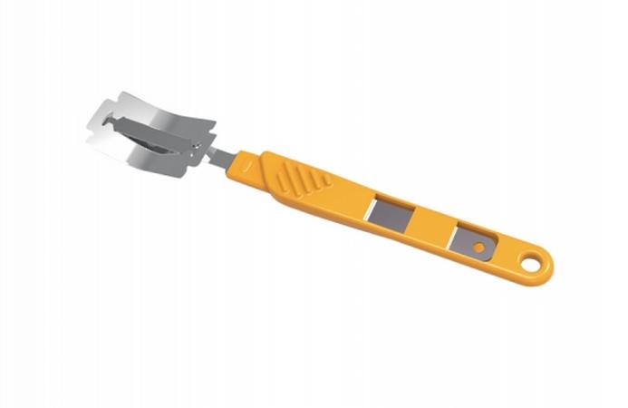 Нож пекарский со сменным лезвием для нанесения надрезов на тесте - фото 5952