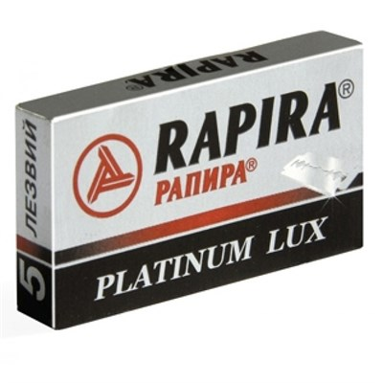 Набор сменных лезвий Rapira Platinum Lux (5 шт) - фото 5953
