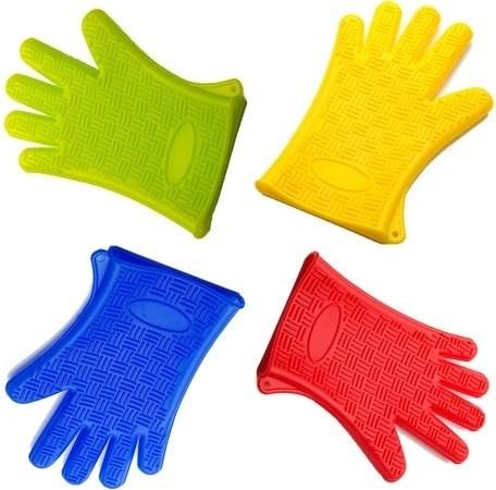 Прихватка-перчатка силиконовая 27х18 см - фото 6060