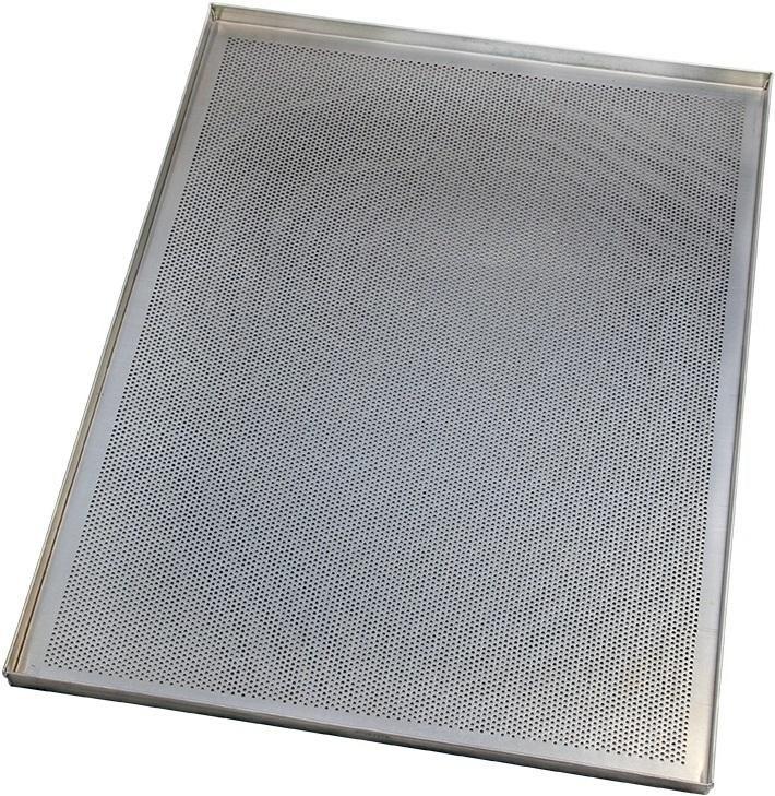 Противень нержавеющая сталь перфорированный 400х300х20 мм (Россия) - фото 6949