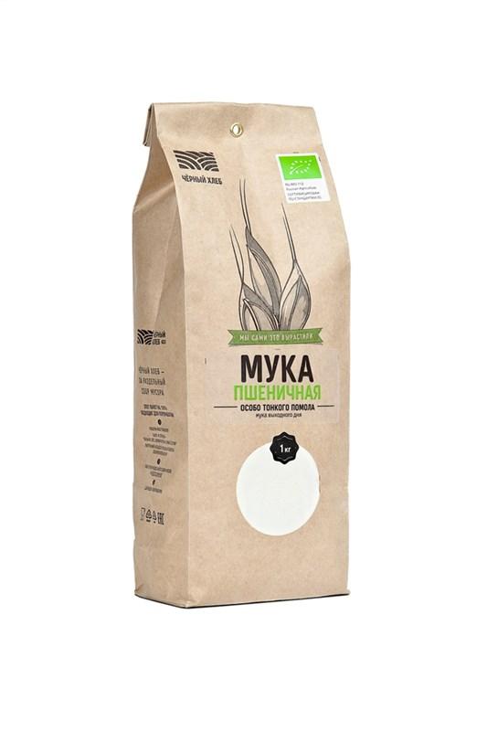Мука пшеничная особо тонкого помола БИО, пакет 1 кг - фото 7143