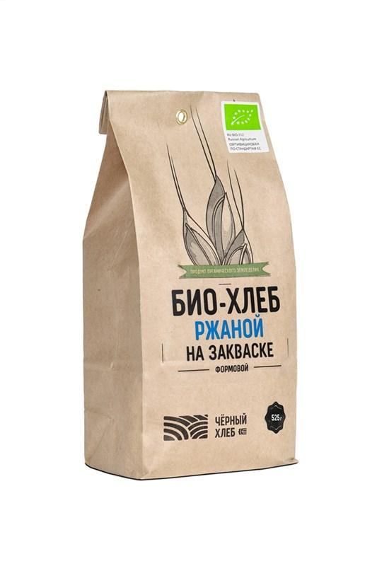 Набор для выпечки: БИО-хлеб ржаной на закваске формовой, пакет 0,525 кг - фото 7148