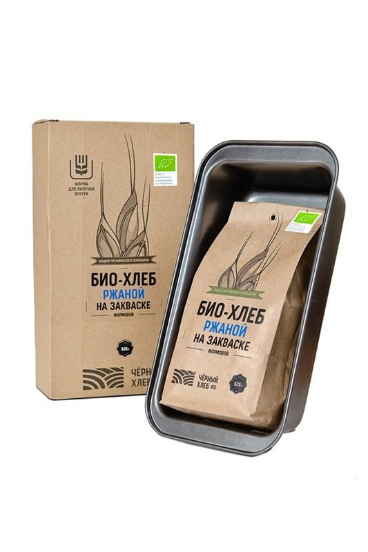 ПОДАРОЧНЫЙ НАБОР для выпечки: БИО-хлеб ржаной на закваске и форма для выпечки - фото 7150
