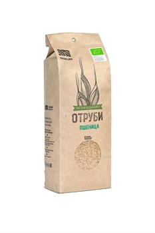 Отруби пшеничные БИО, пакет 0,5 кг - фото 7258