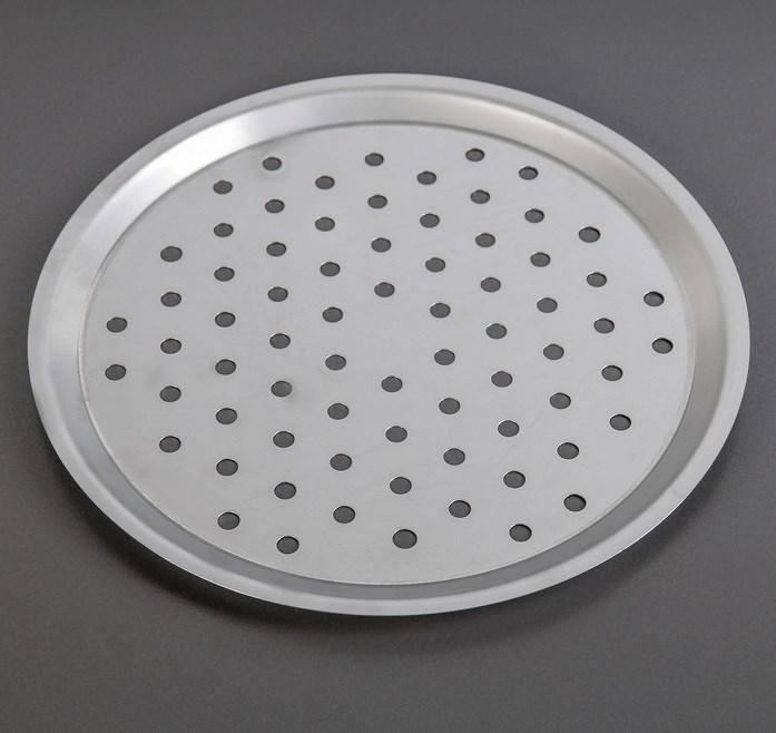 Форма для выпечки пиццы нержавеющая сталь перфорированная 34 cм - фото 7306