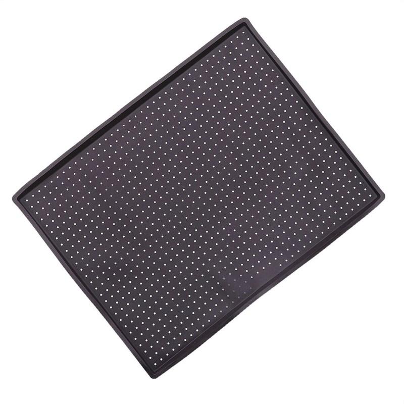 Коврик силиконовый прямоугольный перфорированный с бортиками 40х31х1 см - фото 7320