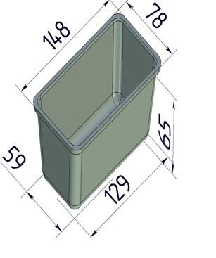 Форма для выпечки хлеба 148х78х65 мм - фото 7331