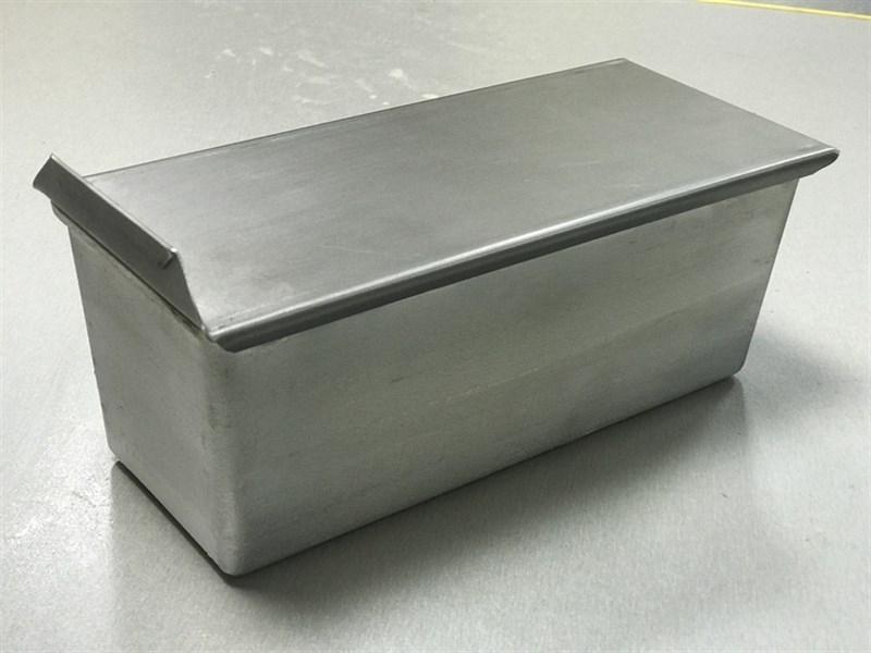 Тостерная форма для выпечки хлеба с крышкой 300х120х120 мм - фото 7338