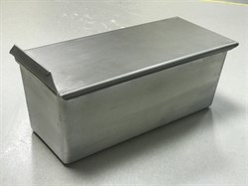Тостерная форма для выпечки хлеба с крышкой 343х125х111 мм - фото 7346