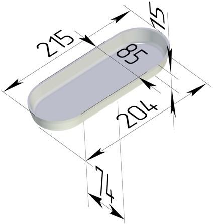 Форма для выпечки хлеба овальная 215х85х15 мм - фото 7348